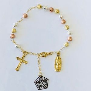 Jewelry - Gold Plated Rosary Bracelet